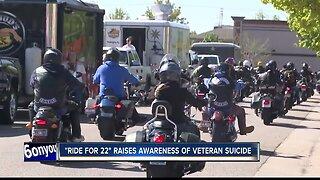Ride for 22 raises awareness of veteran suicide