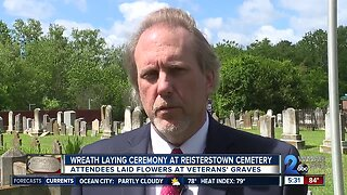 Wreath laying ceremony held at Reisterstown Cemetery