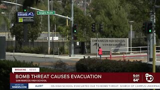 Bomb threat prompts evacuation at San Marcos High School