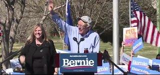 Bernie Sanders speaks at rally