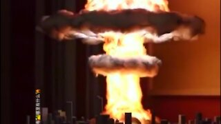 Creating a realistic nuclear explosion lamp