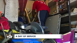 Dozens of volunteers improve seniors' homes on National Day of Service