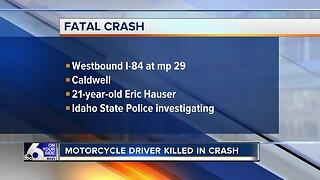 Motorcyclist killed in crash near milepost 29