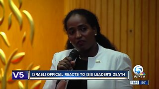 Israeli official speaks in Palm Beach County about ISIS leader's death
