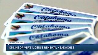 Online driver's license renewal headaches