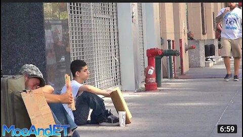The homeless man Vs homeless kid (experiment)