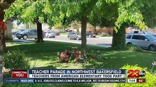 Local teacher parade in Northwest Bakersfield