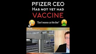 Pfizer CEO is unvaccinated