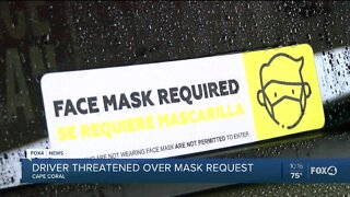 Uber driver left frightened after a passenger refused to wear a mask