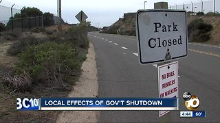 Local Effects of Government Shutdown