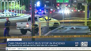 One person killed after truck crashes into Phoenix bus stop