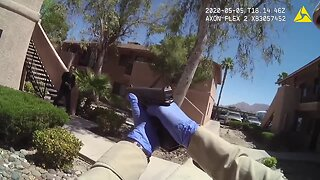 Video of shooting involving man with sword
