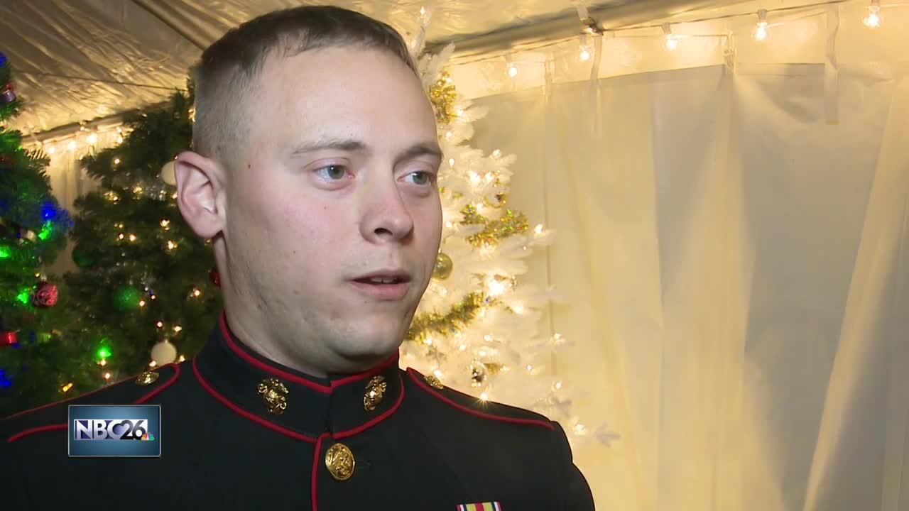 Veteran surprises family