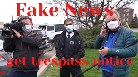 Fear pushers served Trespass notice at HUF Gym Mississauga April 15, 2021