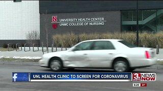 UNL Health Clinic to screen for coronavirus