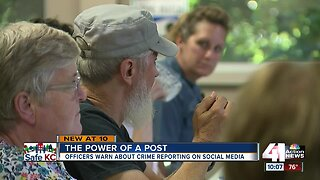 Officers warn about crime reporting on social media