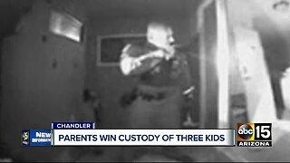 Parents win custody of three kids