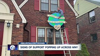 Signs of support popping up in Western New York