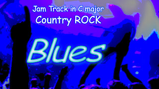 335 COUNTRY ROCK Blues Backing Track in Cmaj for GUITAR