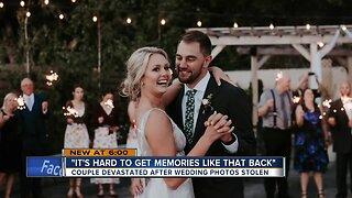 Couple devastated after wedding photos stolen