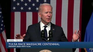 Pres. Biden visits Tulsa for race massacre centennial