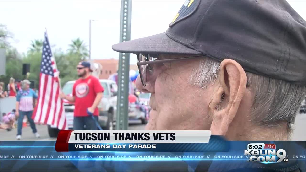 Veterans Day Parade rolls through downtown Tucson