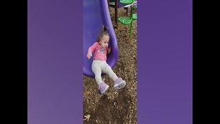 Babies on Slides = SO CUTE