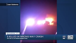 Witness describes wrong-way crash that killed 5 people near Morristown