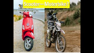 GOING FROM A MOTORBIKE TO A SCOOTER OR SCOOTER TO MOTORBIKE