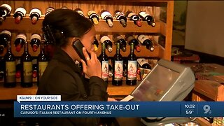 Local restaurants offering take-out