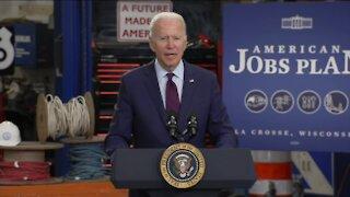 President Biden promotes infrastructure package during visit to La Crosse