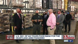 U.S. Sec. of Ag tours Food Bank for the Heartland amid pandemic