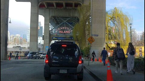 Driving from Olympic Village to Granville Island