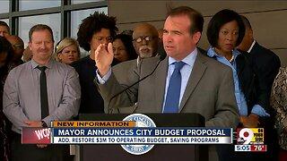 Mayor proposes city budget