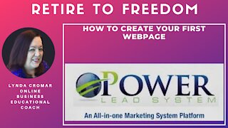 How to create your first webpage