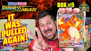 🔥Charizard Pulled Again!🔥 Darkness Ablaze Booster Case (Box 5) | Charizard Hunting | Pokemon Opening