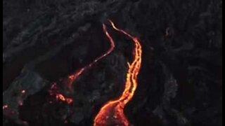 Fantastisk dronefilm av Kilauea-vulkanen på Hawaii