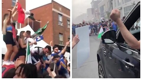 Italy Fans Tore Up The Streets Of Toronto After Yesterday's Euro Cup Win (VIDEOS)