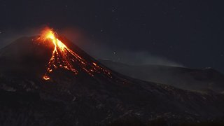 Wrath of the gods: Amazing time lapse footage shows Mount Etna eruption