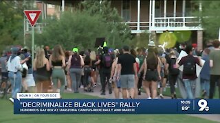 Hundreds gathered for a UArizona rally and march