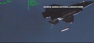 Jet drops mock-nuclear-bomb over Tonopah Test Range