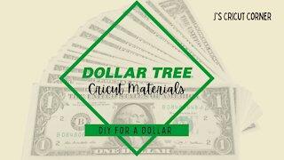 Dollar Tree Cricut Materials