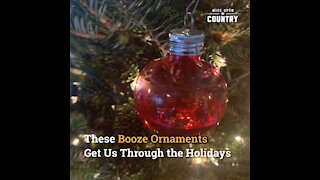 These Booze-Filled Christmas Ornaments Get Us Through The Holidays