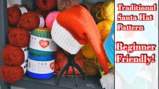 Traditional Crochet Santa Hat by Infiniti Crafting Co