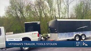 Veterans Trailer, Tools Stolen
