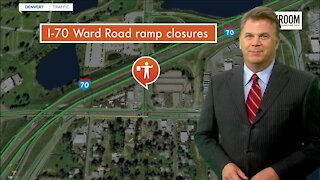I-70 construction closures at Ward Road