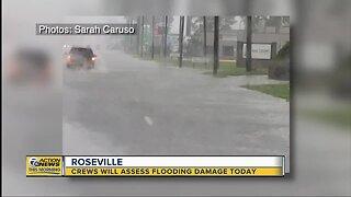Roseville flood damage assessments begin Monday
