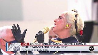Lady Gaga sings the National Anthem at Biden-Harris inauguration