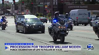 Procession for CSP Trooper William Modén
