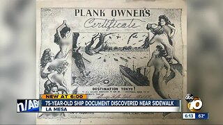 75-year-old ship document discovered near sidewalk